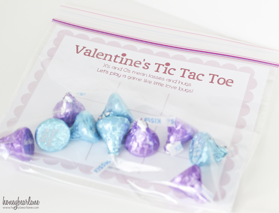 valentines tic tac toe game in a bag