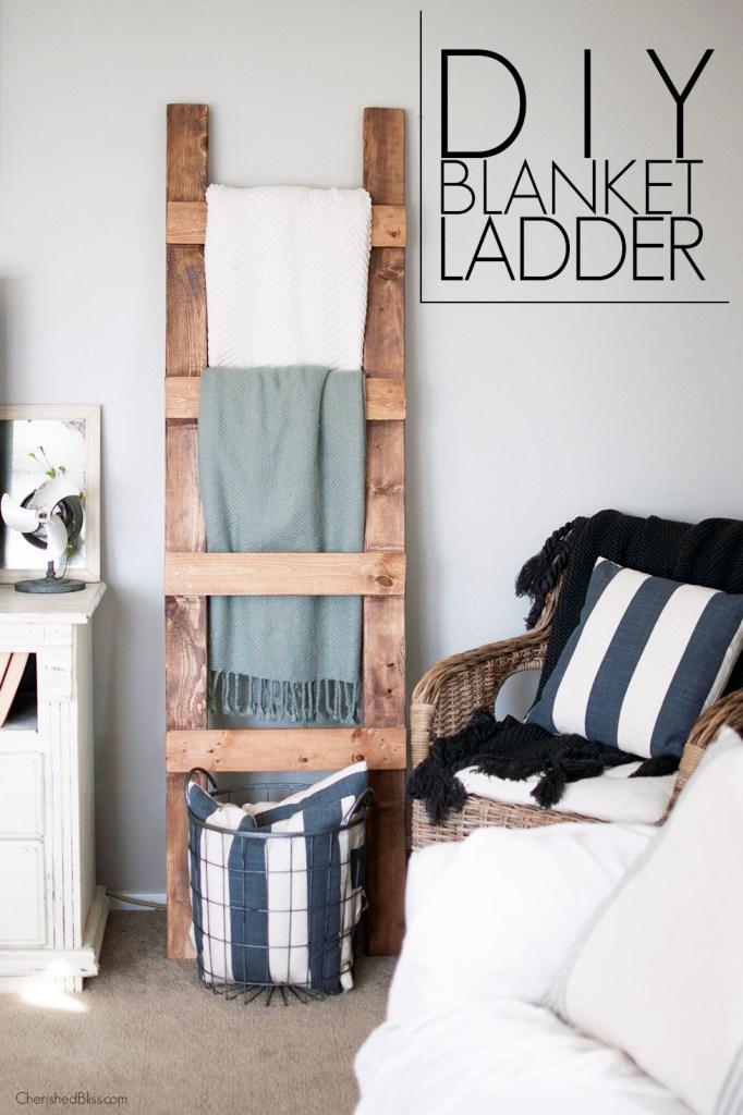 diy-blanket-ladder