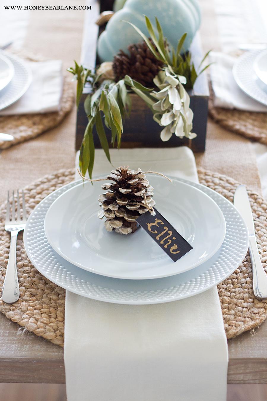 Easy Thanksgiving Table Decor Honeybear Lane