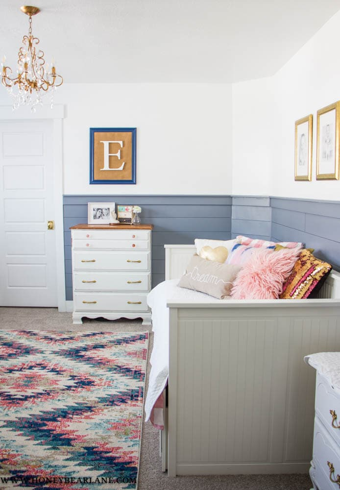 Pink and Blue Girls Room Reveal - Honeybear Lane