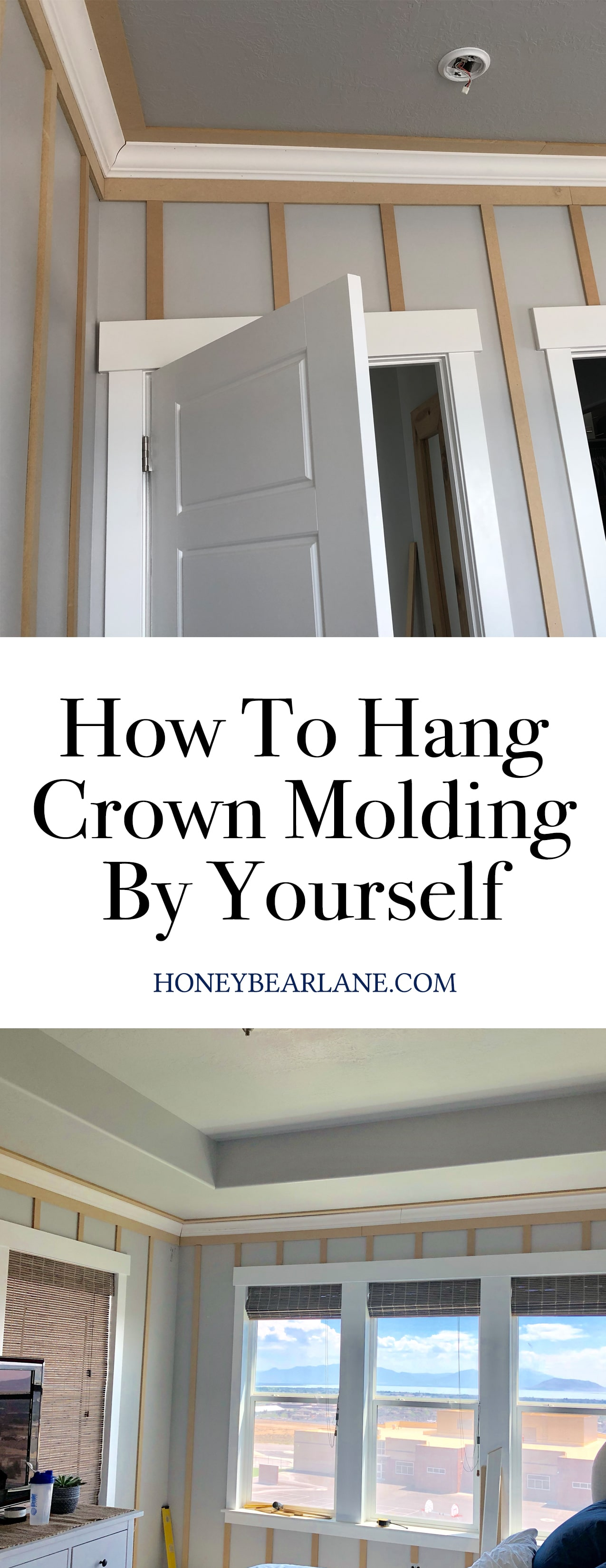 how to hang crown molding by yourself