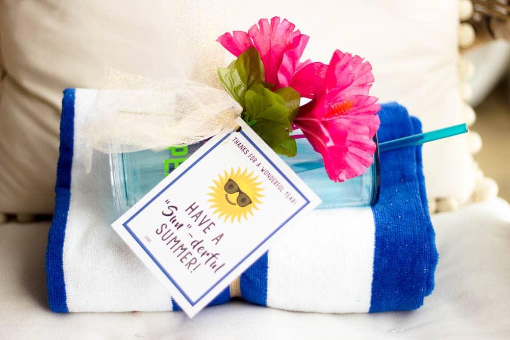 $10 summer teacher gift idea