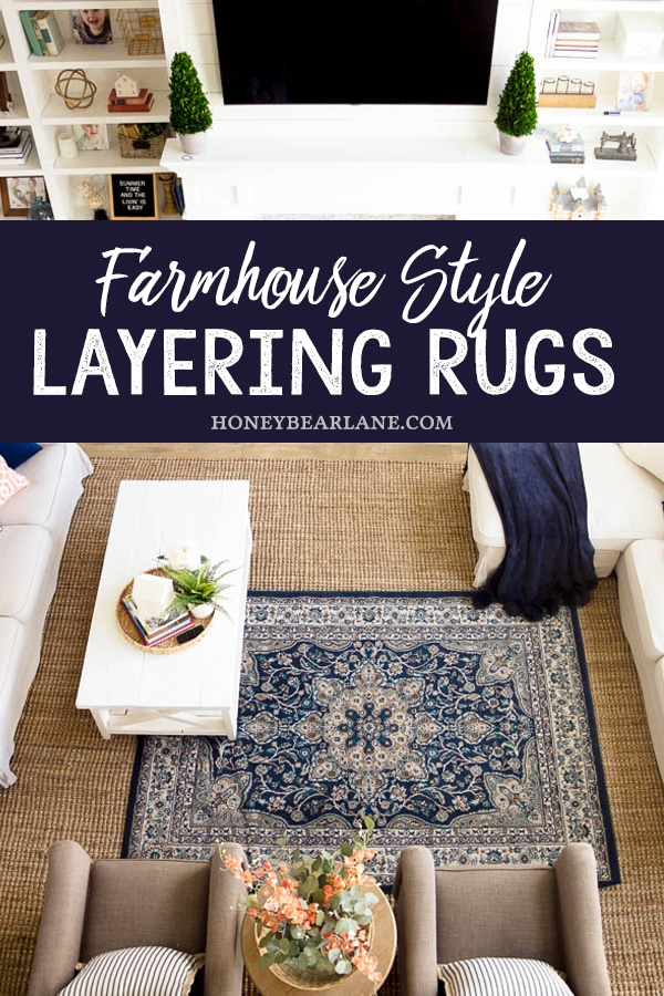 farmhouse style layering rugs
