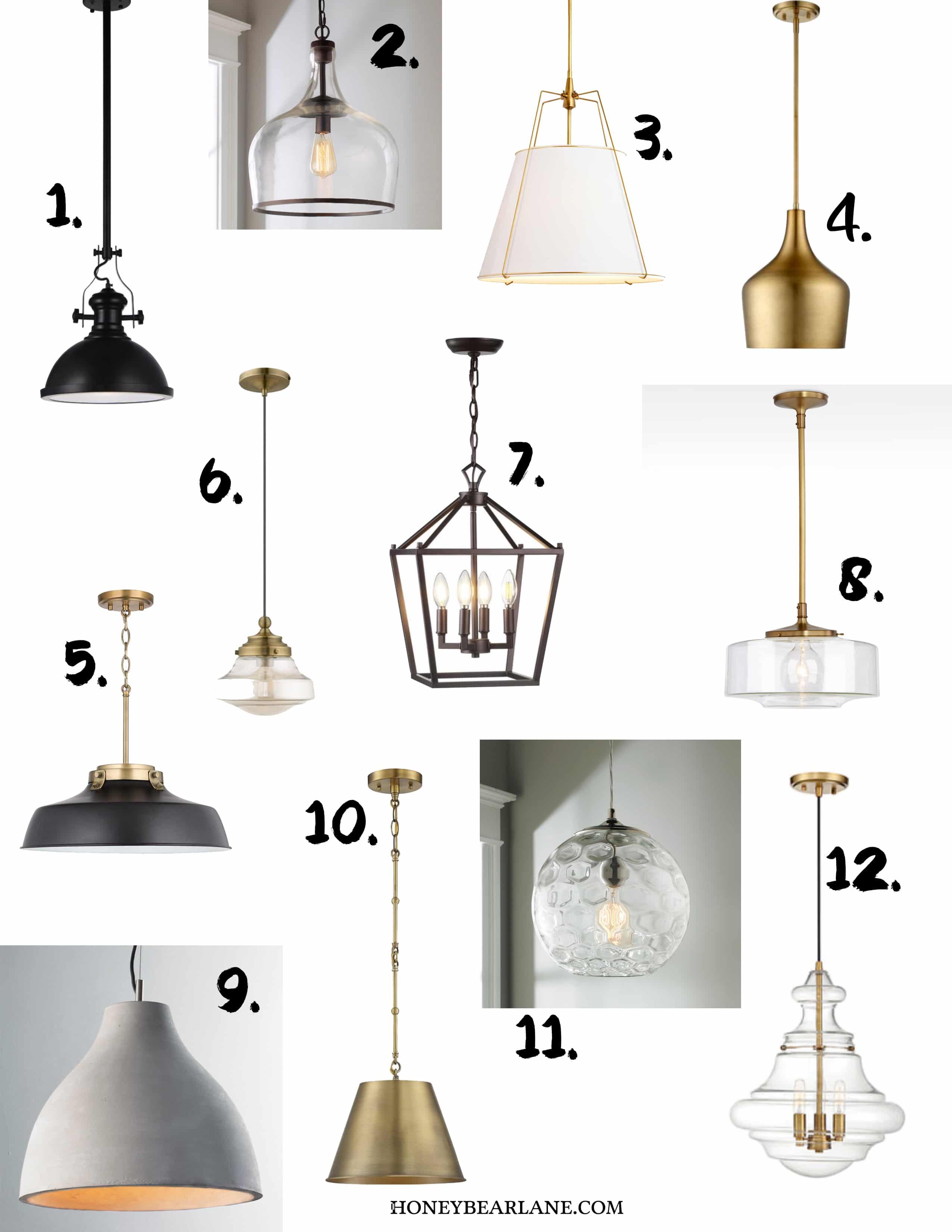 12 modern farmhouse pendants