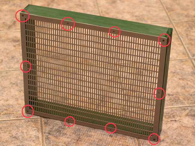 Nail-pattern into feeder