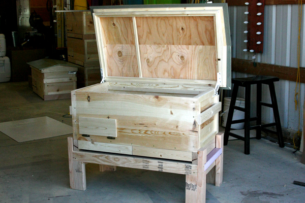 Back of long hive.