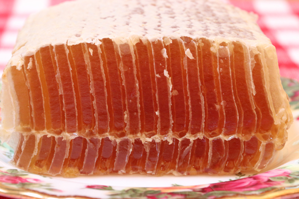 Perfect honey, ready to eat.