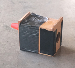 A vestibule with a removable entrance cone can be constructed from wood or heavy duty cardboard. If bees are reluctant to pass through the cone, the vestibule can be opened for a few days.