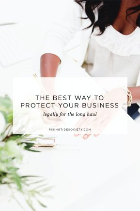 The best way to protect your business legally as a creative entrepreneur.