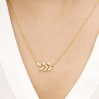 A Gilded leaf