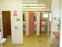 Clean washrooms and toilets