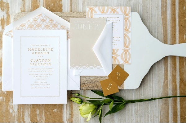 Modern Wedding Invitations Smaller