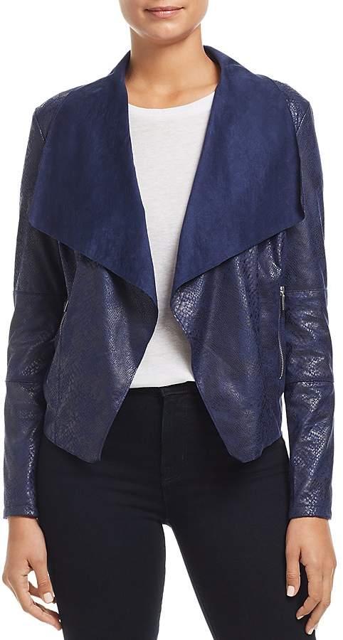 Bagatelle Draped Snake-Embossed Jacket