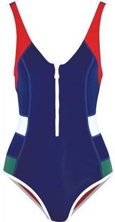 Duskii Open-Back Color-Block Neoprene Swimsuit