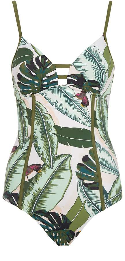 Seafolly Palm Tree Print Swimsuit