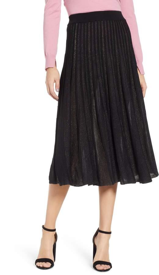 Prima Sparkle Pleated Midi Skirt