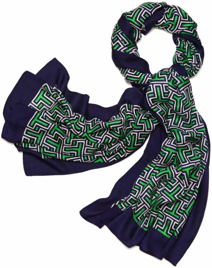 Tory Burch Block T Oblong Scarf