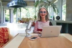 Honey and her MacBook Pro