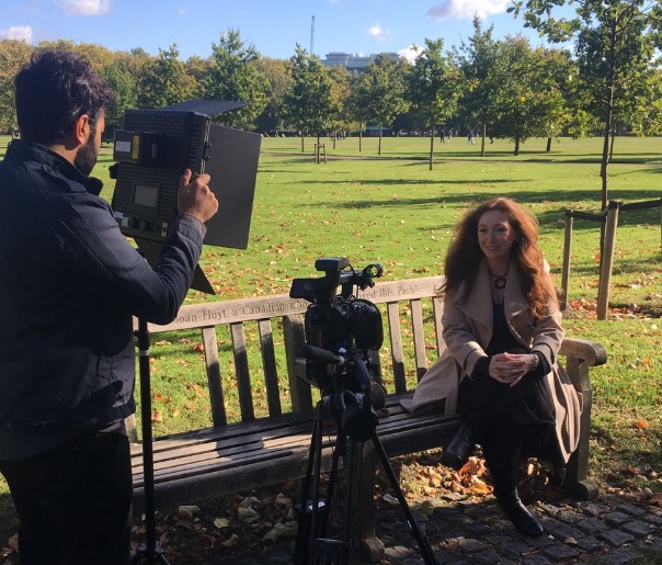 Honey Langcaster-James Filming Cyber Aware Video Government Home Office Psychologist