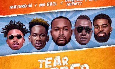 "DJ Neptune – ""Tear Rubber (All Star Remix)"" ft. Mayorkun, Mr Eazi, Duncan Mighty & Afro B"
