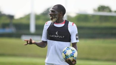 Photo of photos of 27 year old Kenyan footballer, Joash Onyango training with the National team ahead of 2019 AFCON