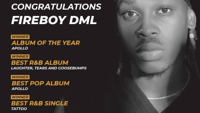 Photo of Fireboy DML Bags 5 Awards, Check Headies Award 14th Edition Winners Full List