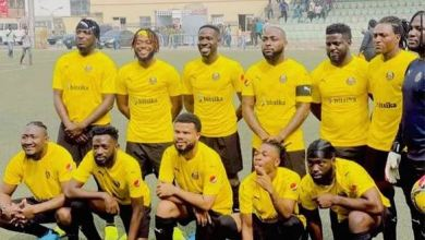 Photo of 30BG In Action As Davido tackled Laycon, Zlatan Others As Top Music Stars Storm Lagos For Epic Football Match (Photos)