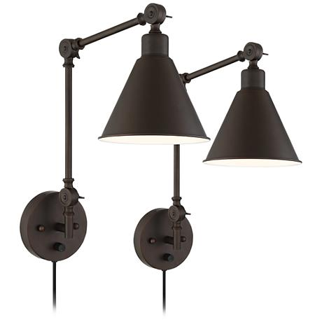 Plug in Wall sconces from Lamps Plus