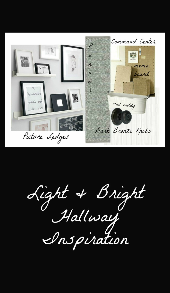 Light and bright hallway makeover