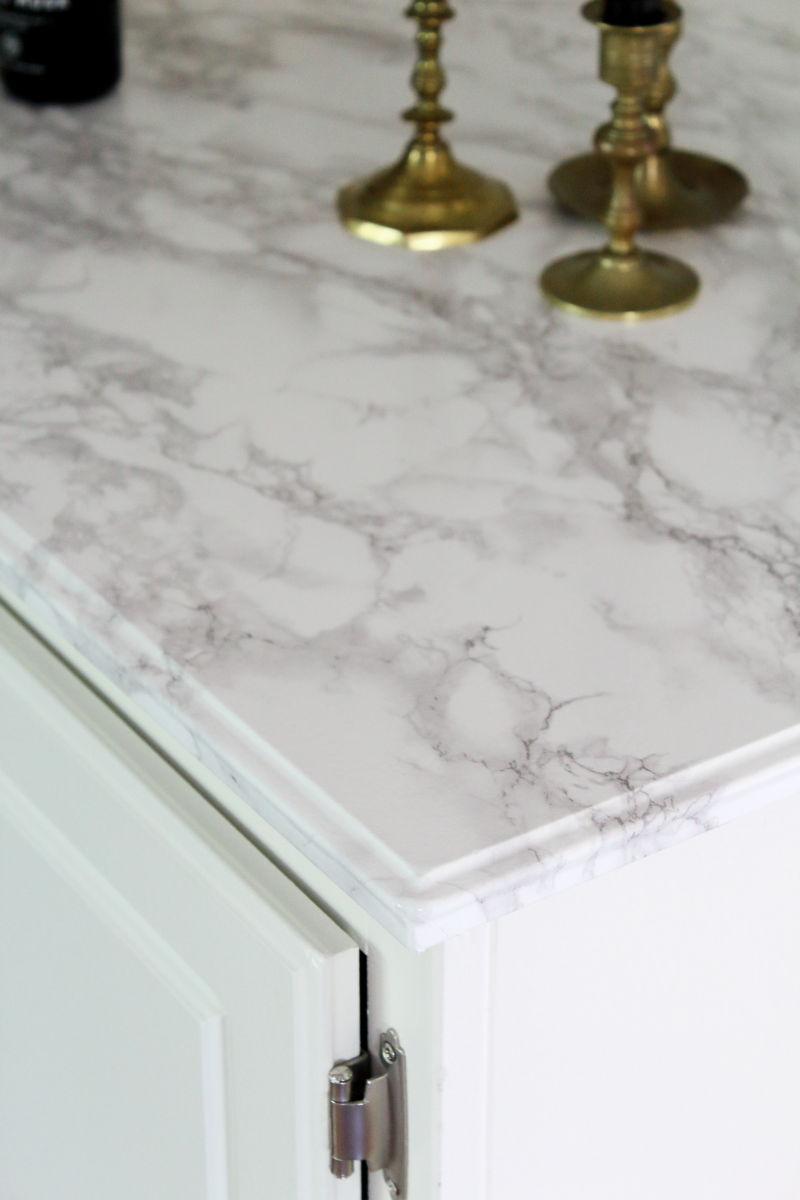 marble contact paper makeover after