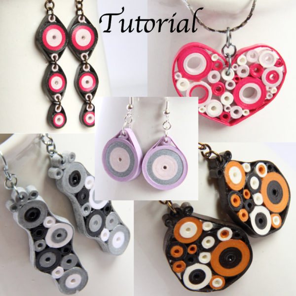 paper quilling tutorial quilled retro circle earrings pendant
