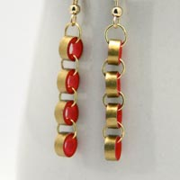 How to make chain earrings from paper quilling - tutorial from Honey's Quilling