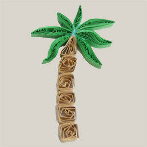 free tutorial for paper quilled palm tree