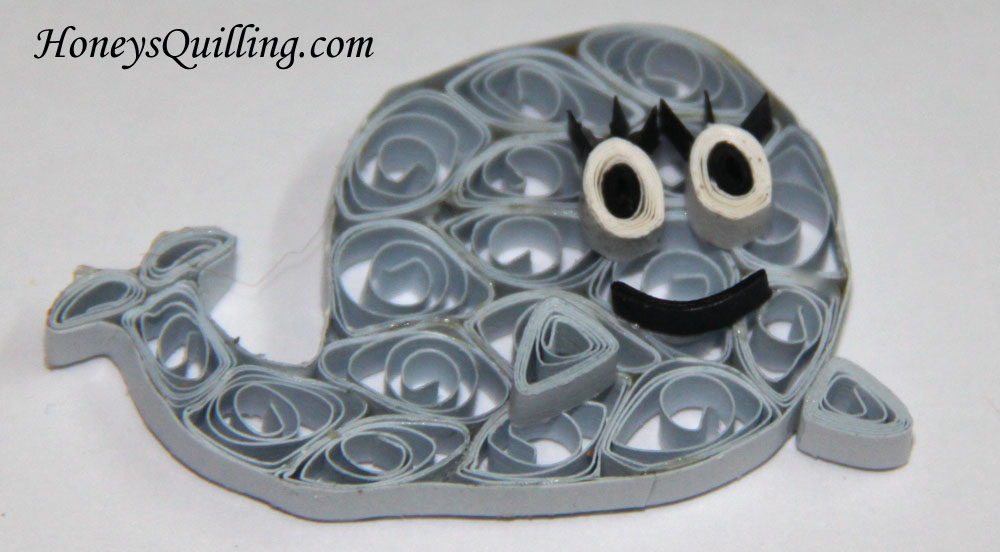 Flapjack - Bubbie the Whale Character Paper Quilled Magnet - by Honey's Quilling