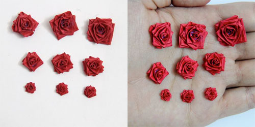 Quilling paper rose studs
