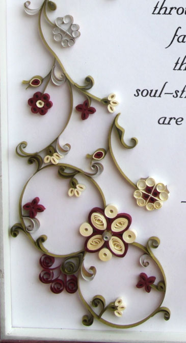 paper quilling persian carpet frame design