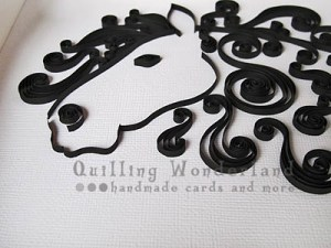 2014 chinese new year of the horse paper quilled horse