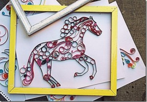2014 year of the horse chinese new year paper quilled horse ideas