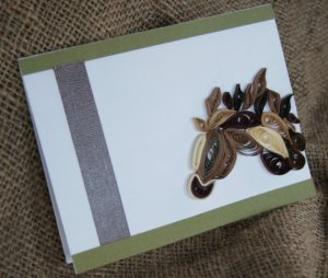 paper quilled horse card