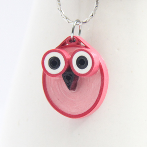 tutorial for paper quilled owl jewelry