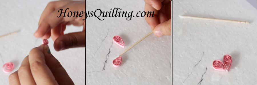 quilling for kids - make a paper quilled heart with this tutorial!