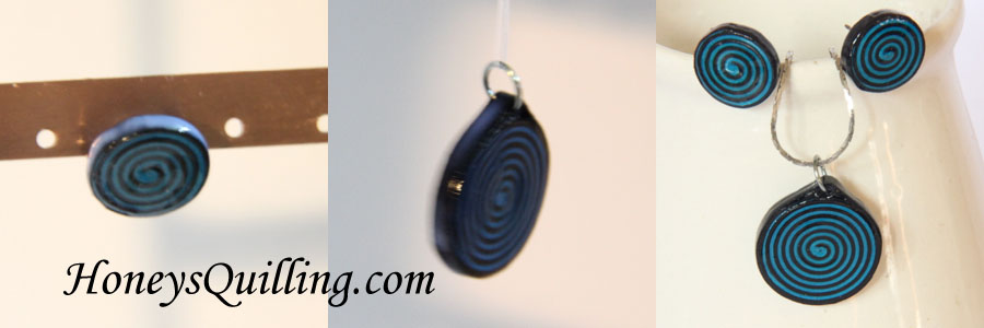 What sealant to use to make these paper quilled spiral earrings and pendant