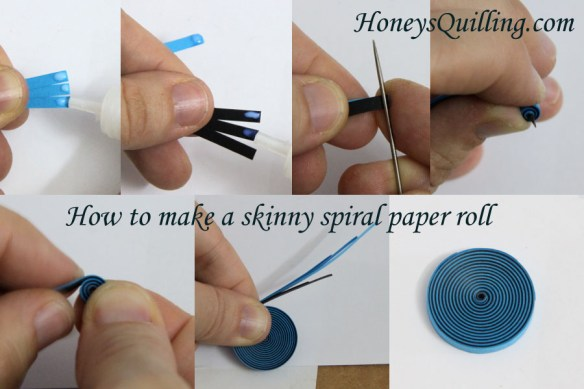 How to make a spiral with paper strips.  A free paper quilling tutorial from Honey's Quilling