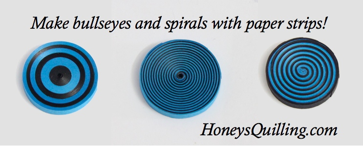 How to Make Spirals and Bullseyes with Paper Quilling