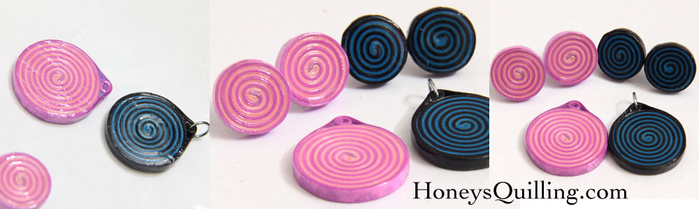 Using glossy PPA as a sealant for paper quilled jewelry