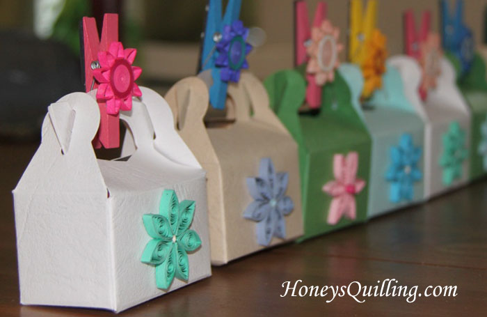 Paper Quilled Gift Favor Treat Boxes - Honey's Quilling