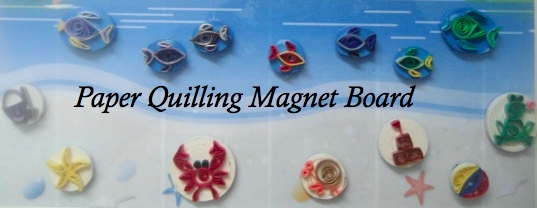 Paper Quilled Magnet Board – Beach Theme