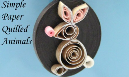 Paper Quilled Flamingo and Rabbit