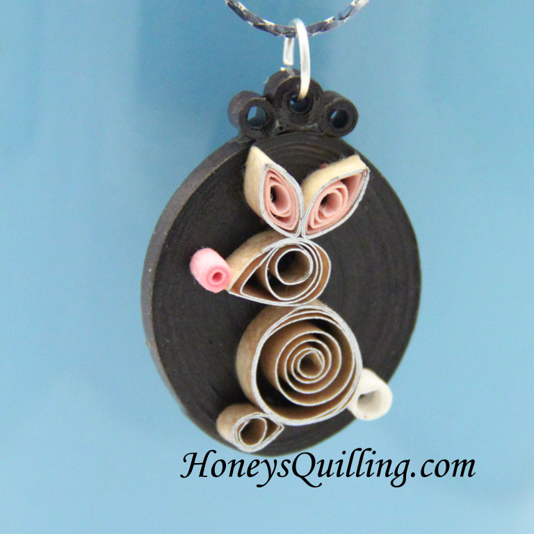 paper quilled rabbit design - Honey's Quilling