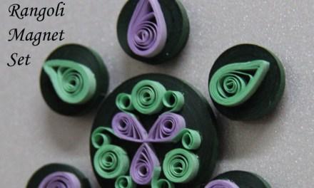 Paper Quilled Rangoli Magnet Set